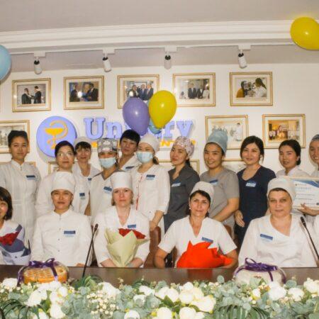 Сегодня в клинике Uniserv Medical Center прошло праздничное мероприятие в честь Международного Дня медицинской сестры